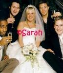Wer waren als einzigste an Gemmas Hochzeit ohne weibliche Begleitung?