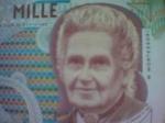 Welche Pädagogin ist auf dieser ehemaligen 1000-Lire-Note Italiens zu sehen?
