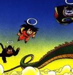 Als Son - Goku dem Schlangenpfad folgt, kommt er auf halben Weg zum Palast der Schlangengöttin. Was bekommt sie von Goku zu sehen, als sie ihm zu den