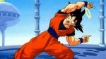 """Mit wem macht Son - Goku in Gottes Palast Trunks und Goten die Fusion vor, um ihnen das Wort,, Symmetrie"""" zu erklären?"""