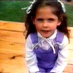 Als kleines Kind machte sie Werbung für McDonalds.
