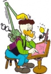 Wie heißt die intelligente Ente, die nützliche Sachen wie den Brotschmierapparat oder das Telefon mit eingebauten Bügeleisen erfand?