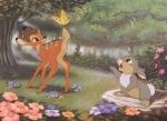 Wie heißt das kleine freche Kaninchen mit dem Bambi zunächst eine glückliche, sorglose Kindheit erlebt?
