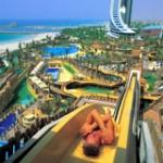 Wie heißt der große Wasserpark zwischen den beiden Hotels 'Burj al Arab' und 'Jumeirah Beach'?