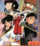 Inuyasha, Kagome, Shippo, Myoga und Naraku sind die Freunde von Miroku und Sango.