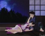 Sango lässt es zu dass Miroku sie begrapscht.