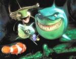 Wie heißen die drei Haie, die Dori und Nemo zu einem Stelldichein einladen?