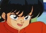 Was macht Ranma als er die Katzenfaust das erste Mal einsetzt und auf Akanes Schoß sitzt?