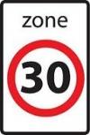 Worauf weist dieses Verkehrszeichen hin?Hier beginnt die Zone mit einer...
