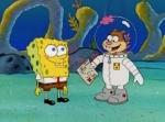 Was für ein Kostüm hatte Sandy an, als sie Spongebob vor den Immobilien-Hai gerettet hat?