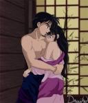 Sango mag es, von Miroku angemacht zu werden.