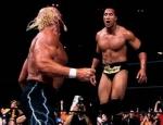 Bei welcher WWE-Großveranstaltung traf The Rock auf Hulk Hogan?