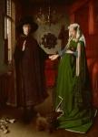 """Vom wem stammt das hier abgebildete weltbekannte Gemälde """"Die Arnolfini-Hochzeit"""", in dessen Mitte ein Spiegel eine wichtige Rolle einnimmt"""