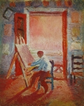 Welcher Künstler stelle sich auf diesem Bildnis selbst dar?