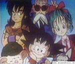 Was macht Son-Goku in der ersten Folge Dragonball ganz am Anfang?