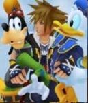 Sora, Goofy und Donald sind die Hauptfiguren.