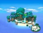 Man startet auf der Insel des Schicksals (Destiny Island).