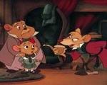 Basil, der gro�e M�usedetektiv: Wie lautet der Name der dicken Maus links im Bild?