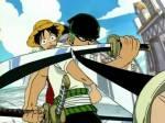 Ruffy kommt aus dem Dorf Shimosuki und Zorro aus dem Windmühlen-Dorf.