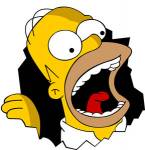 Welche Farbe hat Homers Winterjacke?