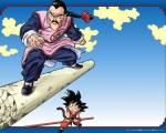 Mit was fliegt Tao Baibai zu Son-Goku am Quittenturm?