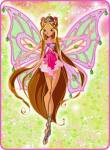Flora hat ihr Enchantix in Linphea bekommen,indem sie ihre kleine Schwester gerettet hat.