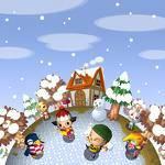 Wenn du im Winter 2 Schneebälle nebeneinander stellst, entsteht ein Schneemann.