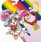 Was sehen Bunny, Ami, Rei, Makoto und Minako als Chibiusa auf der Brücke stand?