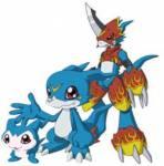 2.Staffel: Es gibt 2 blaue Rooky-Digimon.