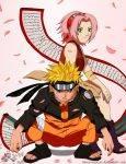 Naruto ist in Shippuuden immer noch kleiner als Sakura.