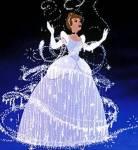 Welche Aussage hat Cinderella gemacht, als die gute Fee gekommen ist und sie in eine wunderschöne junge Frau verwandelt hat?