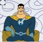 Wie nennt Captain Hero seine Eltern?