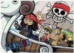 Welcher Pirat ist genauso verrückt wie Ruffy?