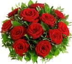 Er schickt dir rote Rosen.