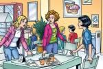 Wie heißt das Café, wo Wendy sich mit ihren Freunden immer trifft?