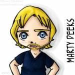 Deeks wurde in Los Angeles geboren.(Im Film)