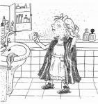 Was will Olga aufführen, als sie bei der transylvanischen Nacht auf dem Sofa von Antons Eltern herumhüpft?