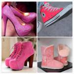 Du gehst in einen Schuhladen hinein um dir neue Schuhe zu besorgen.Welche Schuhabteilung?