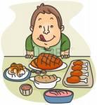 Es ist nun Abend und Du isst Abendbrot. Was isst Du?