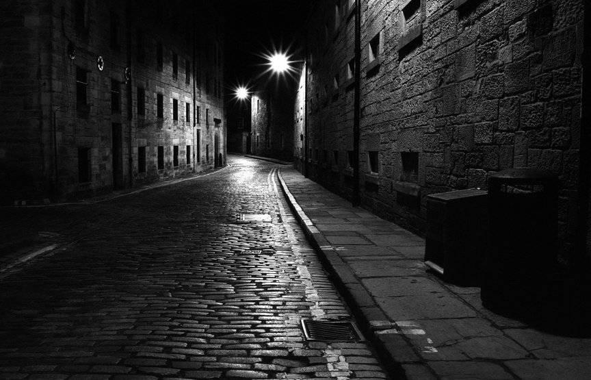 Улица темная фон