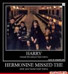 Ron geht im 7.Buch, damit Harry und Hermine ihre Liebe ungehindert ausleben können.