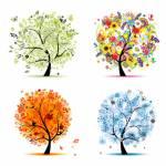Ebenso wie es vier Elemente gibt, gibt es vier Jahreszeiten, die Situationen und Umgebung symbolisieren.Welche dieser Jahreszeiten magst du besonders?