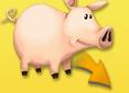 Wie viele Münzen kostet das 1. Schwein?