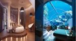 Das Bild oben ist der Vergleich mit meinem Zimmer und die der anderen. Das Wasser Zimmer gehört mir und das Braune gehört den anderen. Halli, Hallö