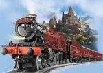 """Gleis 9 3/4 Der Hogwarts Express """"Komm schon"""" zwei ältere Jungs rannten mit ihren Taschen geradewegs auf die Wand vor ihnen zu und verschwa"""