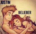 Justin: Wenn ich mit dir ins Bett gehen würde? Ich: Omfg ... Was für eine Frage!