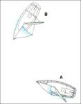 Frage 41: Welches der abgebildeten Boot ist ausweichpflichtig und warum?