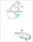 Frage 44: Welches der abgebildeten Boot ist ausweichpflichtig und warum?