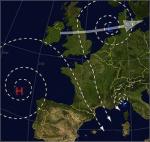 Frage 113: Welcher Wind weht bei dieser Wetterlage im Mittelmeer?