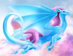 Der Tagträumer: oft auf Wolken schwer zu finden und zähmen da sie meistens schlafen https://dragcave.net/view/2lvMn